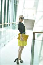 Heeltown heels - Forever 21 dress - asos bag - Chanel sunglasses - H&M cardigan