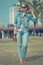 sky blue Forever 21 jeans - blue worn as top tideshe dress - Forever 21 jacket