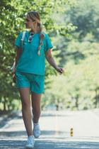 aquamarine Viparo shorts - aquamarine Viparo top