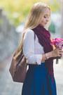 Pink-michael-kors-bag-blue-romwe-skirt