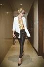 White-chicwish-blazer-black-rebecca-minkoff-bag-black-zerouv-sunglasses