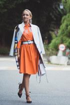 carrot orange Chicwish dress - white Rebecca Minkoff bag - black Choies heels