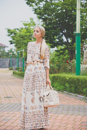 white PERSUNMALL dress - white Chicwish bag - white OASAP earrings