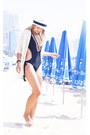 Ivory-chiwish-cardigan-black-river-island-swimwear