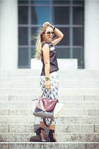 black julien top - magenta OASAP bag - black WOAKAO necklace