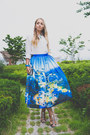 White-zara-bag-blue-chicwish-skirt-white-goodnight-macaroon-blouse