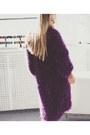 Purple-looploopnsk-cardigan-blue-sam-edelman-heels