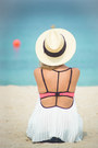Ivory-h-m-hat-black-ray-ban-sunglasses-bubble-gum-triangl-swimwear