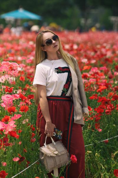 eggshell Styled Moscow blazer - eggshell cynthia rowley bag