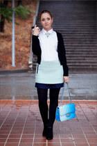 aquamarine Ok skirt - black Forever 21 cardigan - aquamarine asos ring