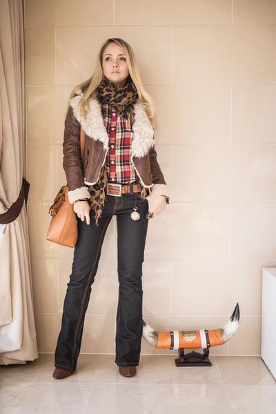 brown Forever 21 ring - dark brown Miss Nabi jacket - tawny Miss Nabi bag