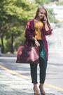 Crimson-shein-jacket-mustard-forever-21-top