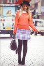 Bubble-gum-forever-21-sweater-black-oasap-bag-light-blue-motel-rocks-skirt