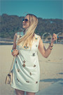White-chicwish-dress-sky-blue-forever-21-jacket-off-white-romwe-bag