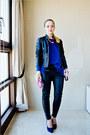 Black-armani-exchange-jacket-blue-nowistyle-sweater-white-zara-bag