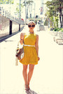 Yellow-asos-dress-beige-gucci-bag-dark-brown-celine-sunglasses