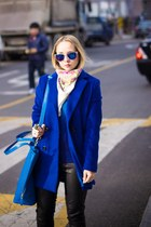 black diva ring - navy Sheinside coat - navy Sheinside sweater