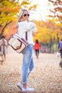 Light-blue-8-seconds-jeans-white-kate-katy-sweater-off-white-oasap-bag