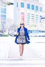 Blue-sheinside-coat-white-tideshe-dress-white-zara-bag
