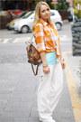 Orange-forever-21-shirt-white-converse-sneakers-sky-blue-forever-21-t-shirt