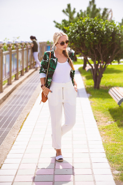 white Celine sunglasses - teal blackfive blazer