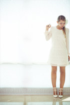 eggshell Chicwish dress - white Udobuy heels
