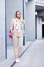 Ivory-forever-21-blazer-bubble-gum-balenciaga-bag-white-miss-nabi-flats