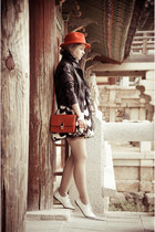 red H&M hat - white Miss Nabi shoes - white Zlz dress