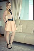 black Zara heels - eggshell romwe bag - neutral Miss Nabi blouse