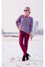 Bubble-gum-balenciaga-bag-blue-giant-vintage-sunglasses-maroon-h-m-pants