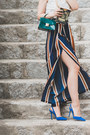 Teal-romwe-bag-navy-zaful-pants-blue-sam-edelman-heels