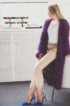 purple Looploopnsk cardigan - blue sam edelman heels