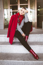Ruby-red-oasap-boots-ruby-red-oasap-coat-black-tommy-hilfiger-jeans