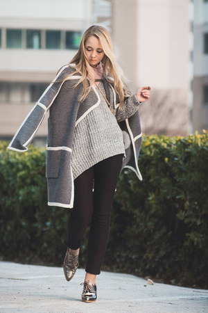 heather gray shein sweater