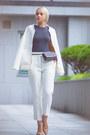White-kate-katy-jacket-heather-gray-kate-katy-bag-neutral-sam-edelman-flats