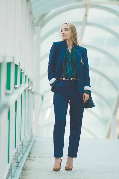 green Ellen Dane bag - blue Ellen Dane pants - green Choies blouse
