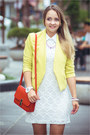 Red-miss-nabi-bag-white-goodnight-macaroon-dress-light-yellow-vivilli-blazer