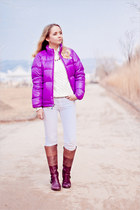 white Maro Catte jeans - purple Paola Ferri boots - amethyst Berghaus jacket