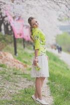 white Udobuy skirt - bubble gum Zara bag - white Chicwish necklace