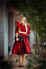 Maroon-chicwish-sweater-black-choies-bag-ruby-red-choies-skirt