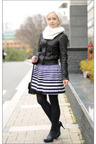 AX jacket - Chanel earrings - Forever21 skirt
