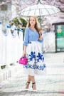 Blue-chicwish-skirt