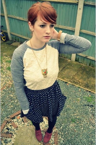 Matalan sweater - Zara skirt