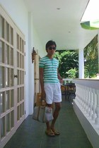 d18fd04fe11 stripes Topman shirt - leather bag Gucci bag - Unbraded shorts - tortoise  Dickie. striped TOMS shoes ...