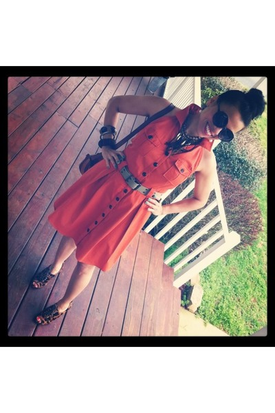burnt orange cotton dress