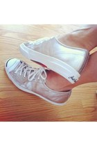 silver comfortable jack purcell sneakers