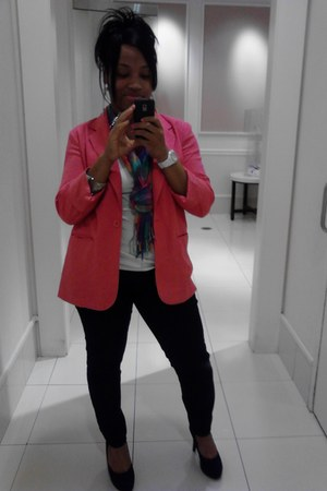 Mossimo pumps - bubble gum thrifted blazer - rounded cami Forever 21 shirt