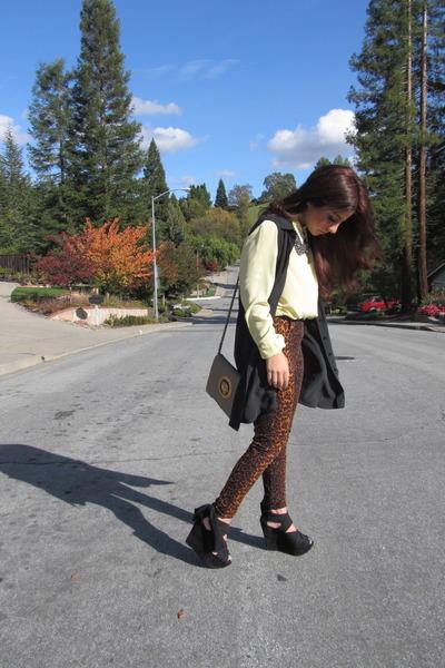 black unbuttoned Equipment dress - tawny Switchblade Stiletto jeans
