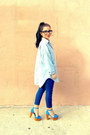 Navy-skinnies-forever21-jeans-sky-blue-chambray-shirt-millau-shirt