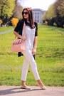 White-bershka-shirt-light-pink-random-brand-bag-white-stradivarius-pants